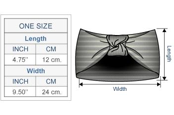 Turban Alpaca Headband Size chart