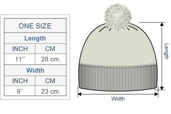 Snowfall Brushed Alpaca Hat Size chart
