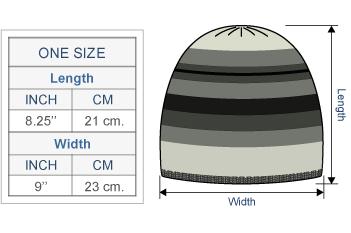 Ilave Alpaca Hat Size chart