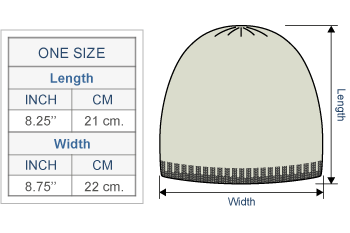 Embroidered Flower Alpaca Hat Size chart