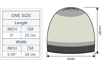 Scandinavian Winter Alpaca Hat - Fleece Lining Size chart