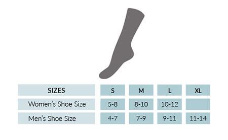 Alpaca Print Unisex Crew Socks Size chart