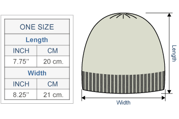 Embroidered Garden Alpaca Hat - Fleece Lining Size chart
