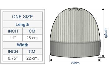 Men's Double Knit English Alpaca Hat Size chart
