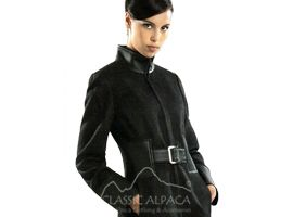Alpaca Coat Leather Belt