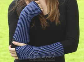 Honeycomb Baby Alpaca Fingerless Gloves Long