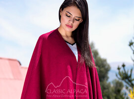 Double-Face Alpaca Knit Ruana Wrap