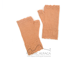 Alpaca Kids-Handmade Fingerless Gloves