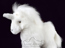 BABY Alpaca Fur - Unicorn Ornament