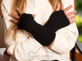 Madisson Alpaca Fingerless Gloves Long