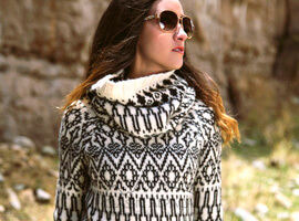 Agathe Turtleneck Alpaca Sweater