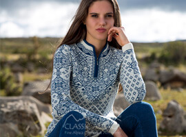 Valeska Baby Alpaca Quarter Zip Sweater