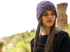 Space Dye Cable Alpaca Hat