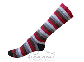 Colours Striped Alpaca Socks