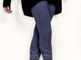 Baby Alpaca Knit Cable Leggings