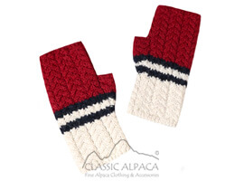 Nautical Baby Alpaca Fingerless Gloves