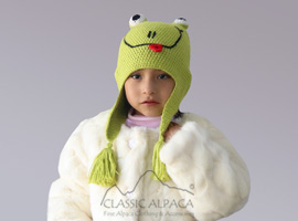 Alpaca Kids - Frog Hat with Ear Flaps