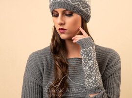 Veruska Nordic Alpaca Fingerless Gloves