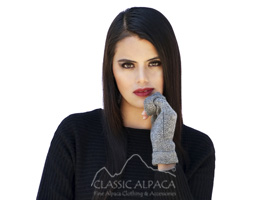Bienne Royal Alpaca fingerless Gloves