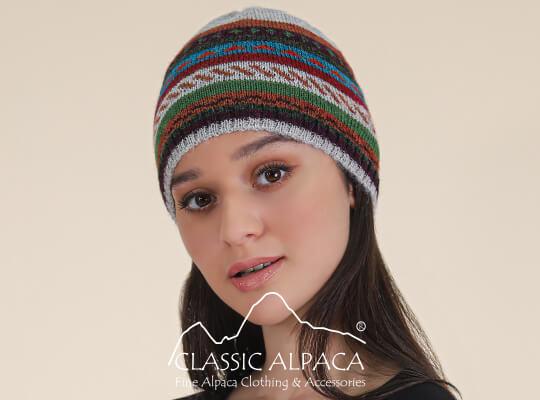 Jacquard Striped Alpaca Set