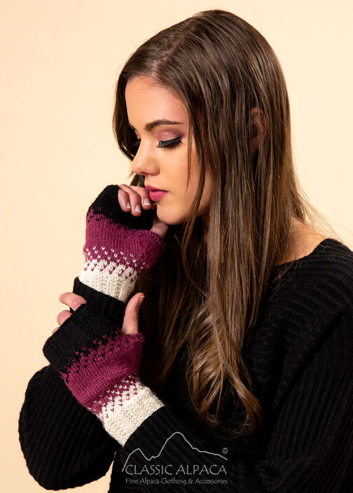 Montana Alpaca Fingerless Gloves