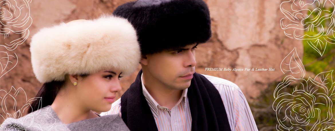 PREMIUM Baby Alpaca Fur & Leather Hat