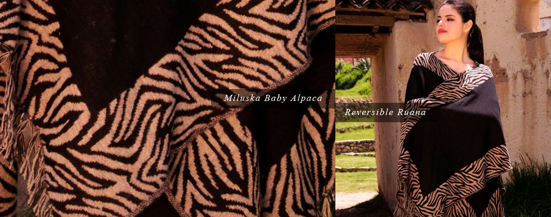 Miluska Baby Alpaca Reversible Ruana