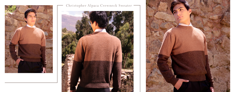 Christopher Alpaca Crewneck Sweater