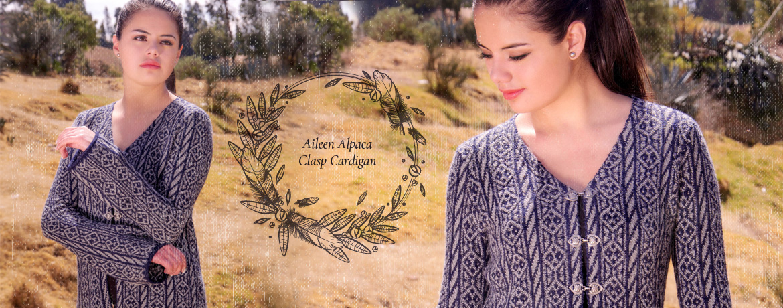 Aileen Alpaca Clasp Cardigan