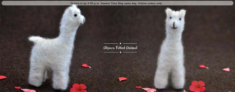 Alpaca Felted Animal