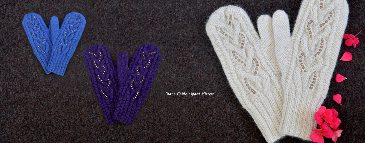 Diana Cable Alpaca Mittens