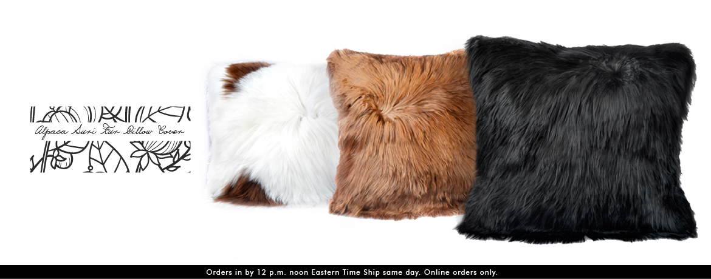 Alpaca Suri Fur Pillow Cover