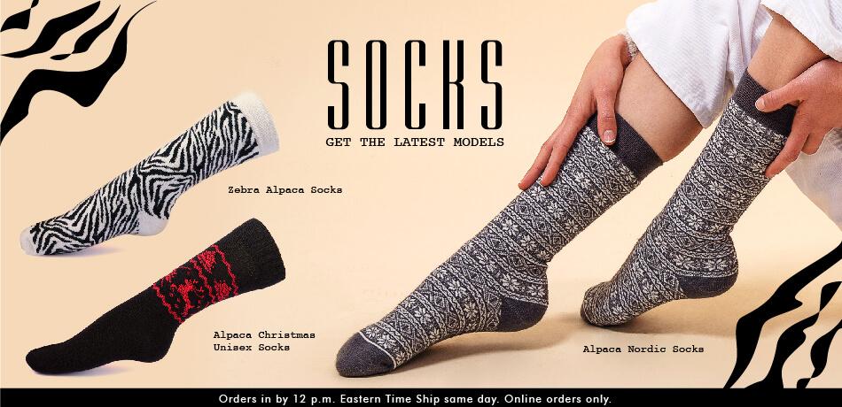 Wholesale Alpaca Socks, Alpaca Sweaters, Alpaca Accessories