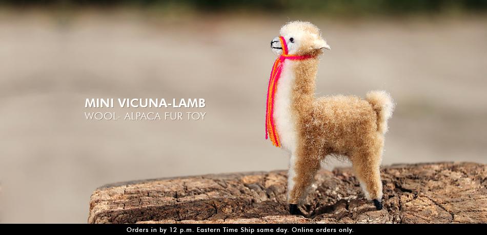 Mini Vicuna-Lamb Wool- Alpaca Fur Toy