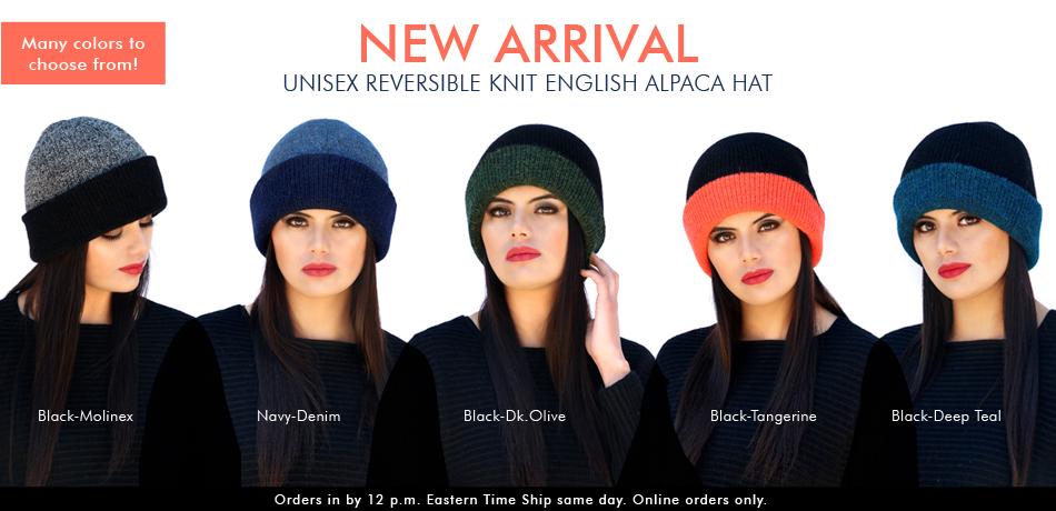 Unisex Reversible knit English Alpaca Hat