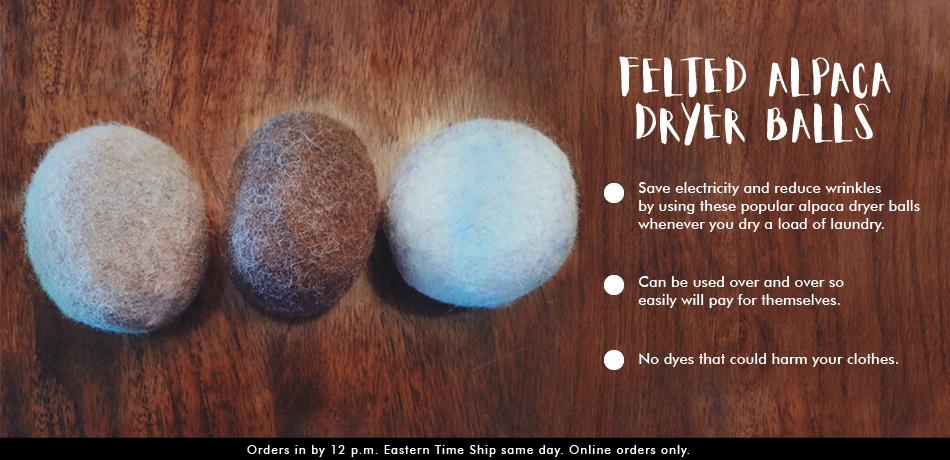 Felted Alpaca Dryer Balls