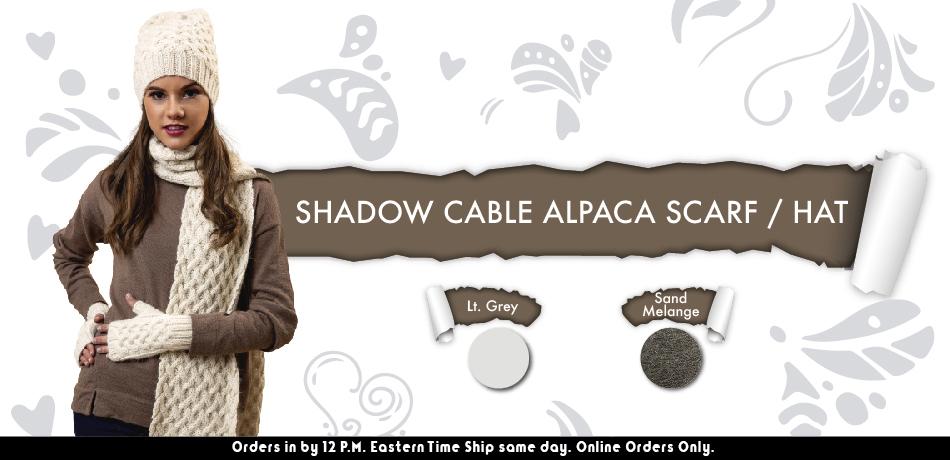 Shadow Cable Alpaca Hat