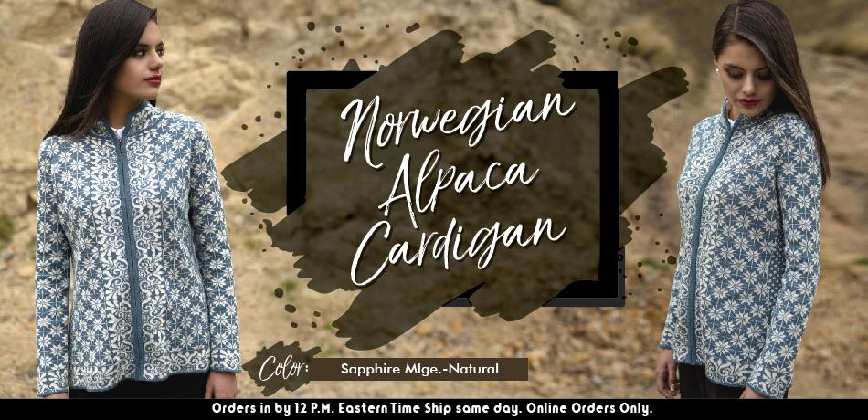 Norwegian Alpaca Cardigan