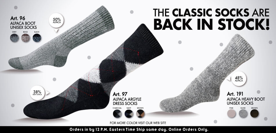 The Classic Socks Are Back In Stock!