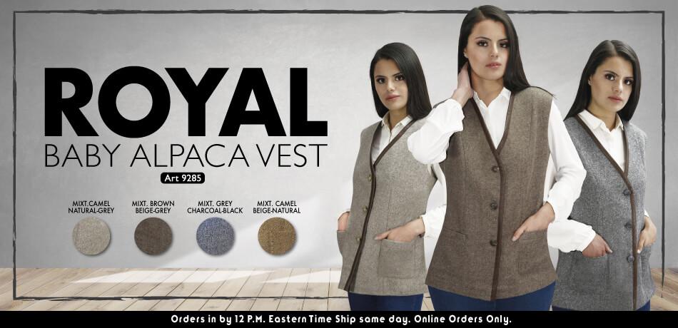 Royal Baby Alpaca Vest | Classic Alpaca