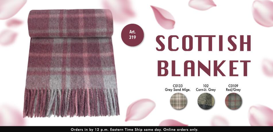 Alpaca Scottish Blanket