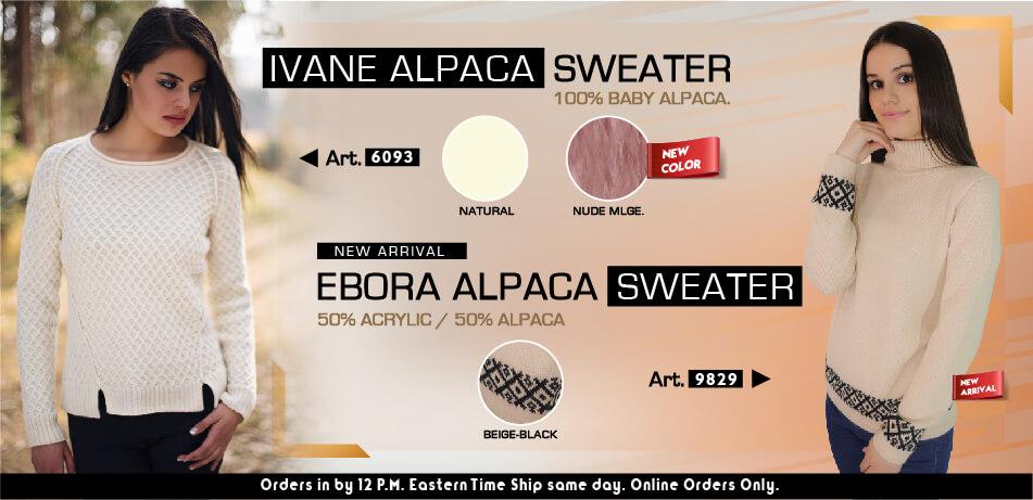 Ivane and Ebora Alpaca Sweaters | New Arrivals