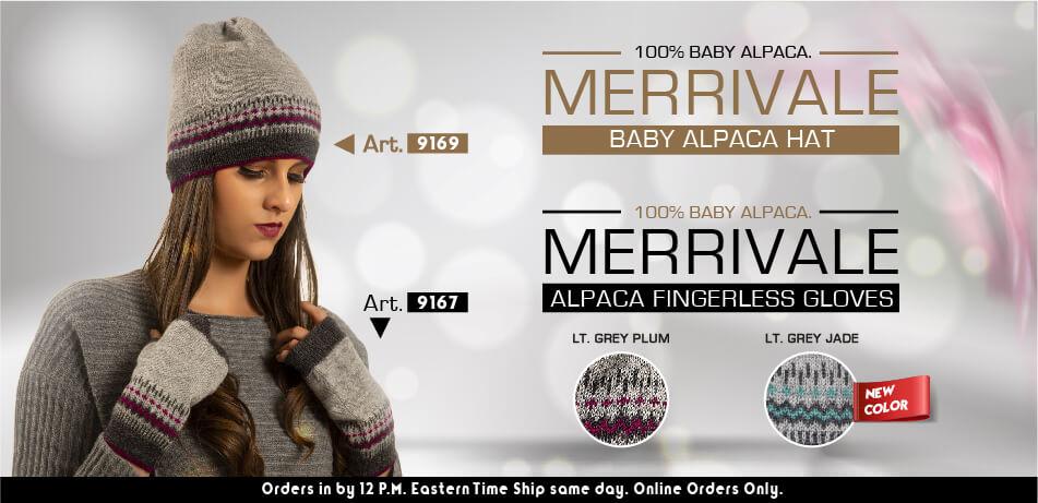 Merrivale Baby Alpaca Hat & Fingleress Gloves