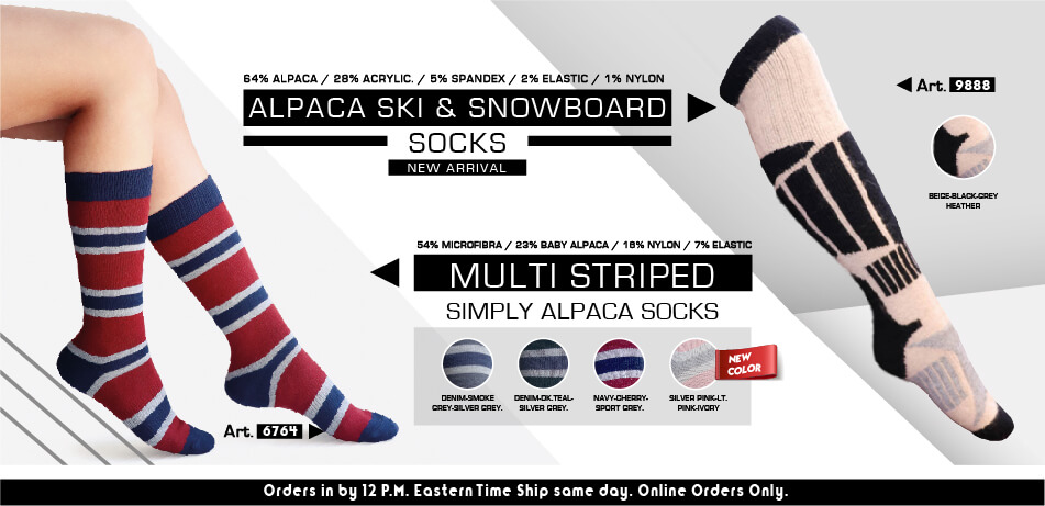 Alpaca Ski & Snowboard | Multistriped Simply Alpaca Socks