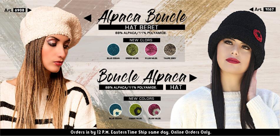 Alpaca Boucle Hat Beret & Boucle Alpaca Hat | Alpaca Accessories