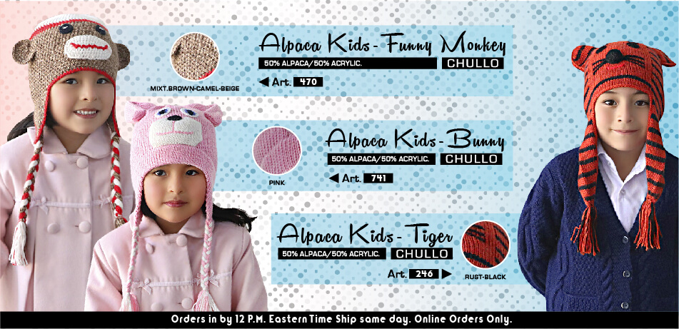Alpaca Funny Chullos | Alpaca Accessories for Kids
