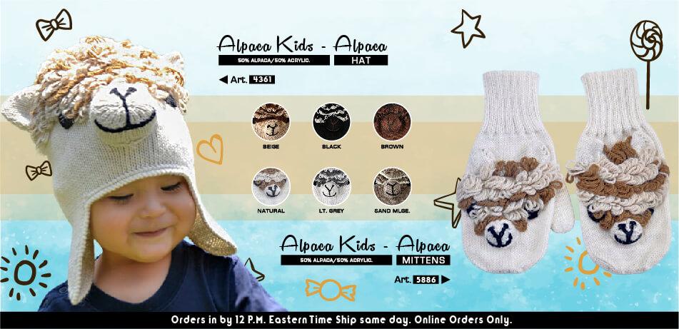 Alpaca Kids Hat & Alpaca Kids Mittens