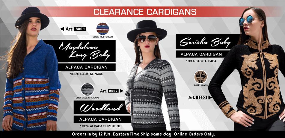 Clearance Cardigans | Classic Alpaca