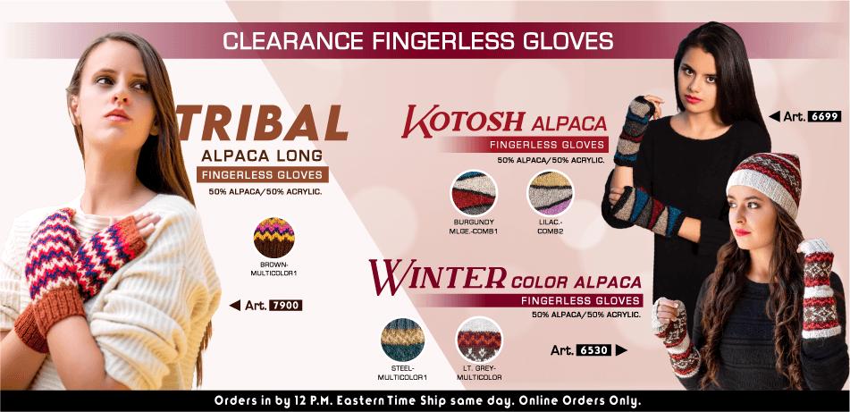 Clearance Fingerless Gloves | Classic Alpaca