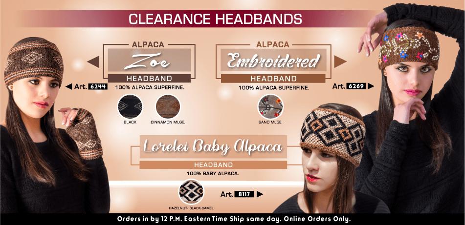 Clearance Headbands | Classic Alpaca